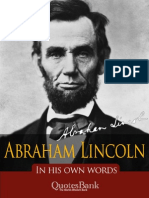 Abraham Lincoln In His Own Words