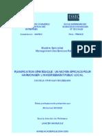 PLANIFICATION STRATEGIQUE.  UN MOYEN EFFICACE POUR HARMONISER L'INVESTISSEMENT PUBLIC LOCAL. CAS DE LA CR MOULAY BOUSSELHAM.pdf