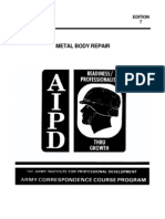 US Army Mechanic Metal Auto Body Repair