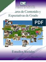 Estándares contenido  y  Expectativas Estudios Sociales