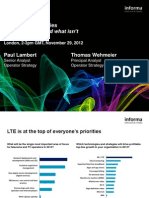 LTE Launch Strategies Webinar - 29th Nov 2012