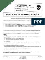 Formulaire de Demande d Emploi 2013