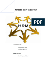 30321041 Hrm Practices in IT Industry