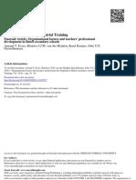 Organisational_factors Impacting on CPD of Teachers