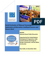 Social Inclusion of Manual Scavengers