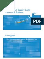 GO_NA13_E1_1 GSM Network Speech Quality Problems & Solutions