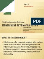 Mis12e Governance
