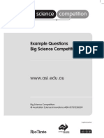 Big Science Example Questions