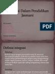 Integrasi Dalam Pendidikan Jasmani