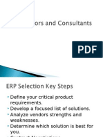 ERP Vendors and Consultants