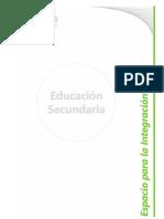 B 11 - Diseño Curricular Nivel Secundario - Area Espacio para la Integración
