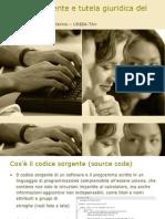 Codice Sorgente e Tutela Giuridica Del Software