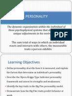 Personality in organization behavior