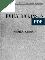 Poèmes choisis-Emily Dickenson