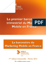 Baromètre Mobile Marketing Association France