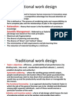 Traditional Work Design
