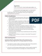 Sample Resume, KJM