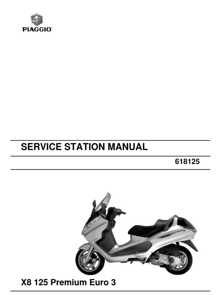 piaggio x8 125 premium euro3 en carburetor motor oil rh scribd com manual de taller piaggio x8 200 service manual piaggio x8 200