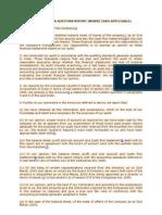 Specimen Auditors Report With Caro