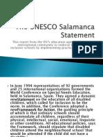 The UNESCO Salamanca Statement
