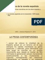 SLHIV - Panorama novela española contemporánea