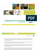 Institutional Presentation - 4Q12