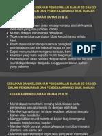 Kebaikan Dan Kelemahan Bhn 2D & 3D