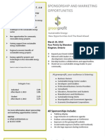 GreenProfit 2013 Sponsorship + Marketing Opportunities