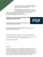 Reflexões a respeito da identificação projetiva na grupoterapia psicanalítica