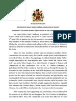 Bingu Wa Mutharika Commission of Inquiry Statement