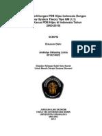 Analisis Perhitungan Pdb Hijau Indonesia Dengan Grey System Theory Tipe Gm (1,1)