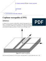 Coplanar Waveguides (CPW)