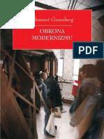C. Greenberg, Obrona Modernizmu