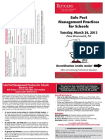 School IPM Pest Management Training - March 2013