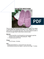 Crocheted Moccasin
