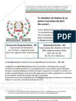 Cosa può fare già oggi il cittadino italiano per ottenere la Democrazia Diretta dallo stato italiano secondo la Legge