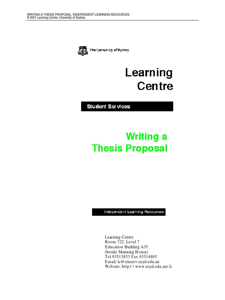proposal and thesis writing an introduction
