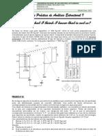 Hoja de Practica i y II de Analisis Estructural