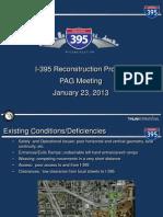 I395 Presentation Advisory Group January 2013