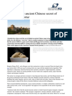 Revealing the Ancient Chinese Secret of Sticky Rice Mortar