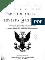 Boletin Oficial y Revista Masonica Del Supremo Consejo Del Grado 33. 1935