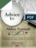 Advice to Ahlus Sunnah