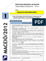 Prova - Analista Previdenciario - Tipo 1