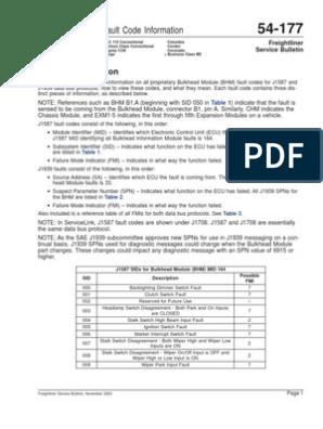Codigos de Falla Del Bhm | Transmission (Mechanics