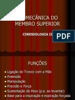 BIOMECÃ-NICA DI MEMBRO SUPERIOR CINESIO II.ppt