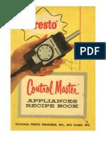 Presto Control Master Appliances Recipe Book