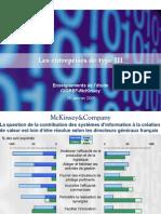 5 - Eric Monnoyer - Etude Cigref-McKinsey - Colloque BNF Les Defis de l Innovation Par Le Systeme d Information 25 Janvier 2005