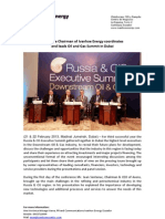 Executive Chairman of Ivanhoe Energy coordinates and leads Oil and Gas Summit in Dubai