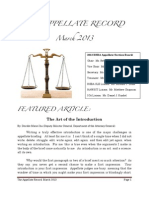 The Appellate Record -- March 2013