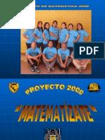 Proyecto 2009 MatematÍzate
